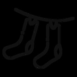 Icono de calcetines colgantes