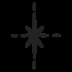 Traço de decoração de estrela cintilante