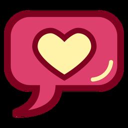 Corazón de burbujas de discurso plano