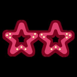 Star glasses flat