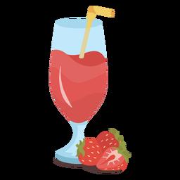 Strawberry juice flat