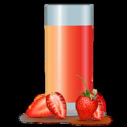 Diseño realista de jugo de fresa.