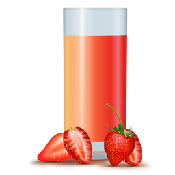 Strawberry juice realistic design