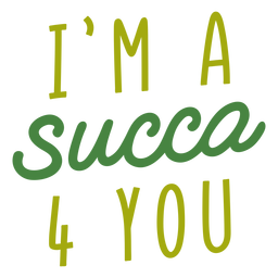 Succa 4 you lettering