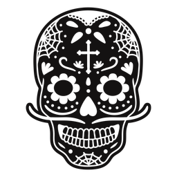 Sugar skull cross cut out