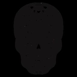 Sugar skull cut out