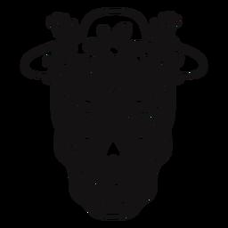 Sugar skull hat cut out