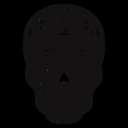 Sugar skull spiderweb cut out