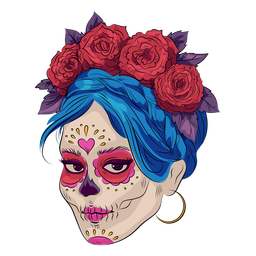 Sugar skull make up illustration