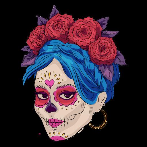 Sugar skull make up illustration