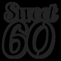 Sweet 60 cake topper