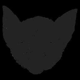 Gato de tres ojos recortado de halloween