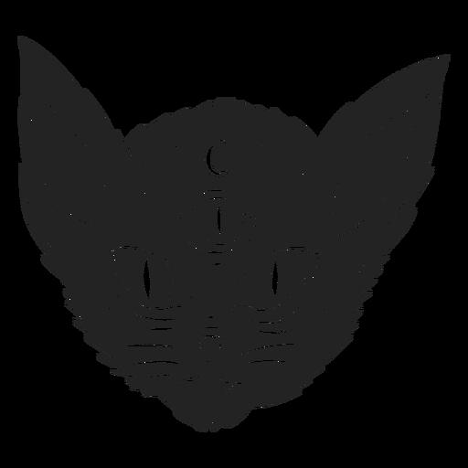Gato de três olhos cortado para halloween