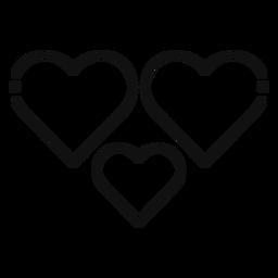 Ícone de três corações