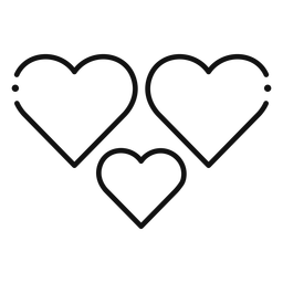 Symbol mit drei Herzen