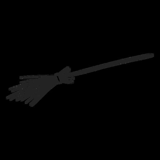 Witch broom halloween stroke