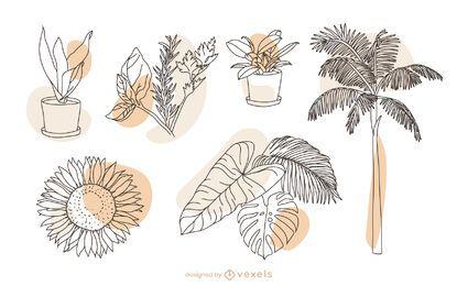 Conjunto de elementos de natureza vegetal