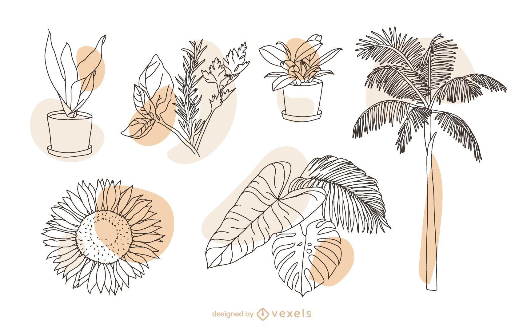 Plant nature element set