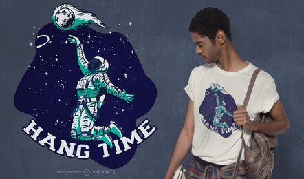 Diseño de camiseta Hang Time