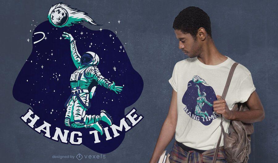 Diseño de camiseta Hang Time