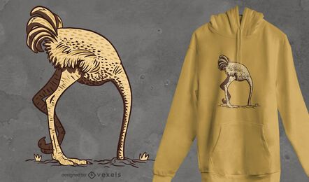 Ostrich sand t-shirt design