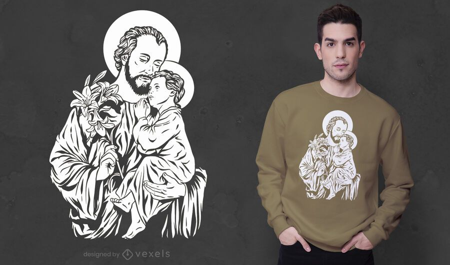 Joseph and jesus t-shirt design