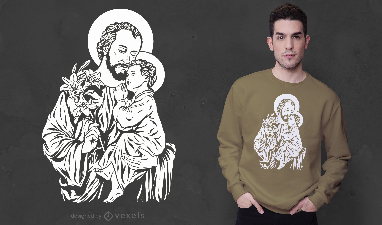 Diseño de camiseta de josé y jesús
