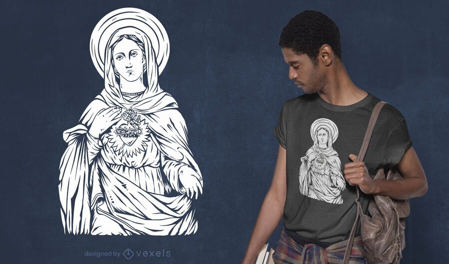 Saint mary t-shirt design