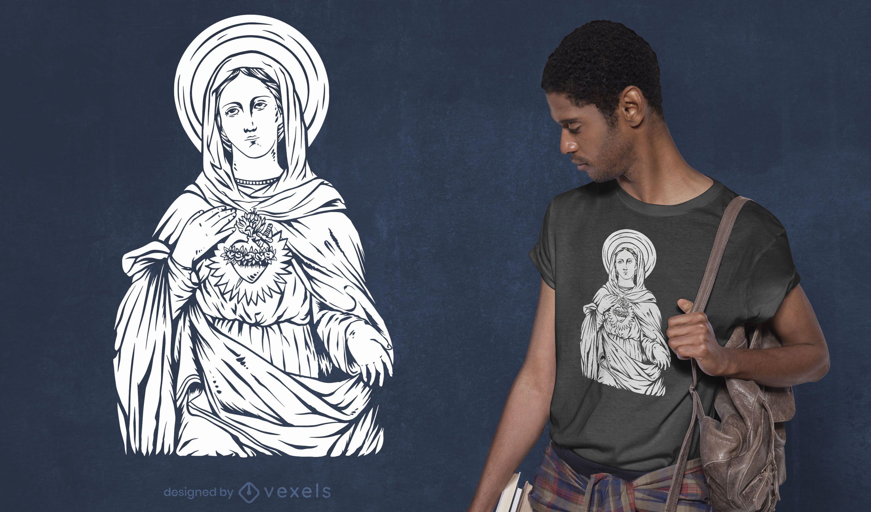 Diseño de camiseta de santa maría