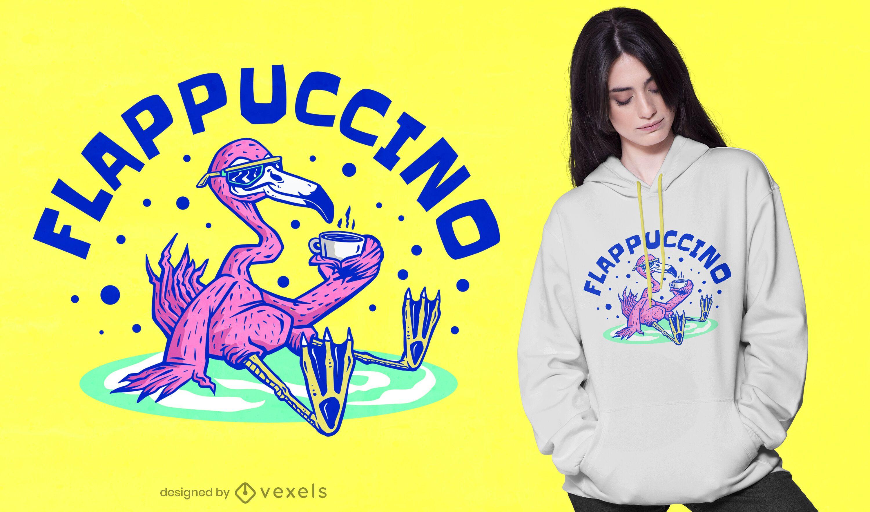 Diseño de camiseta Flappuccino