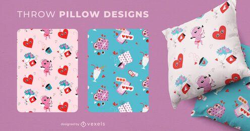 Desenhos de almofadas para o dia dos namorados
