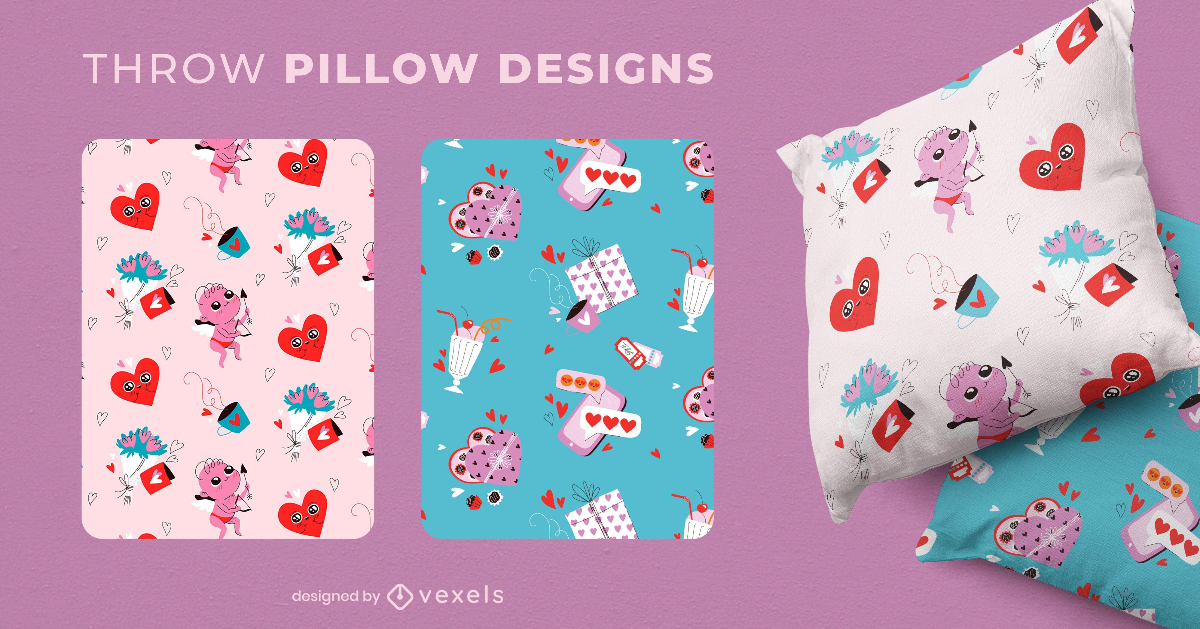 Valentine's day throw pillow designs