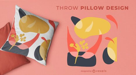 Abstract organic throw pillow design