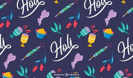 Diseño de patrón de festival holi