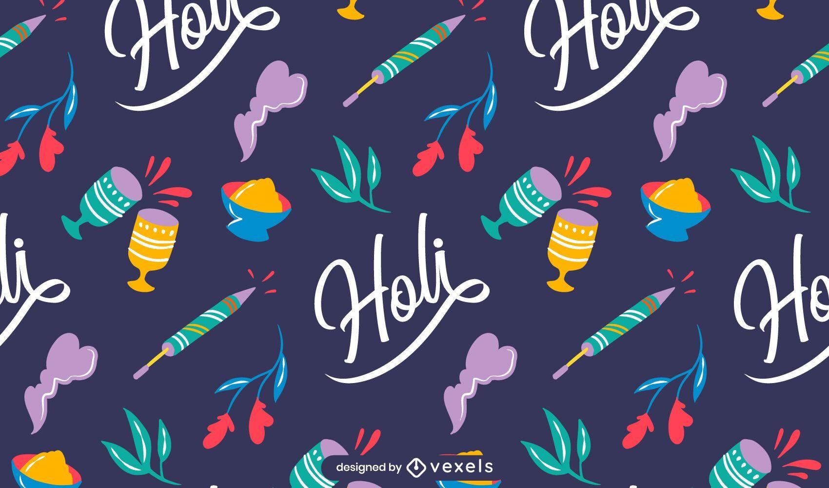 Holi festival pattern design