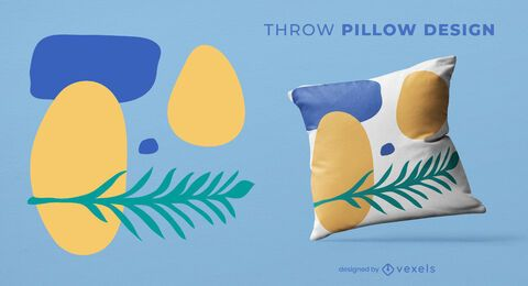 Artistic organic throw pillow design