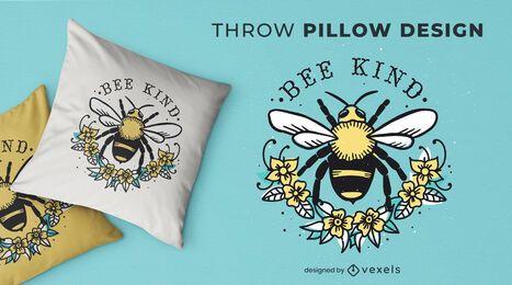 Design de almofada tipo abelha