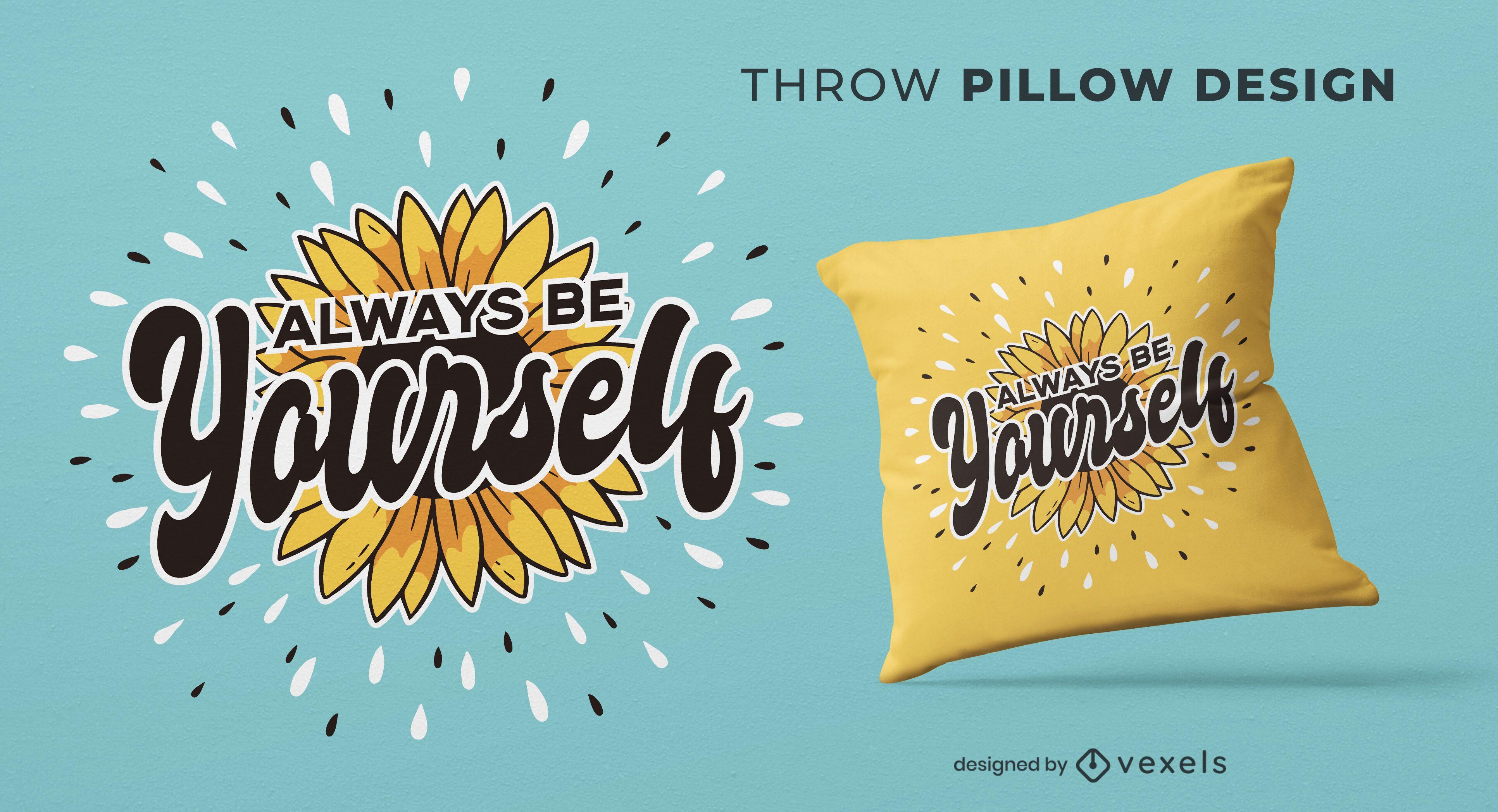 Be yourself throw pillow design