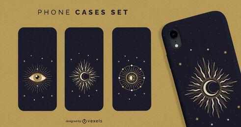 Conjunto de capa de telefone Mystic Astrology