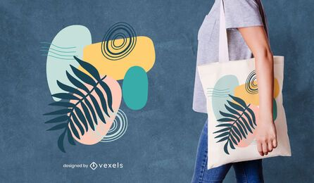 Design abstrato colorido de sacola