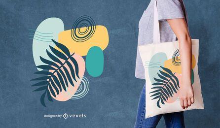 Diseño de bolso de mano abstracto colorido