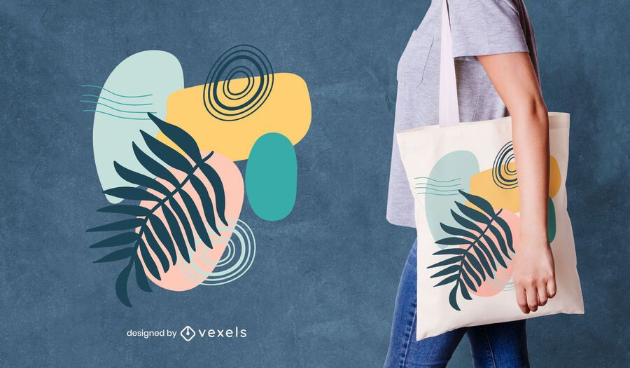 Colorful abstract tote bag design