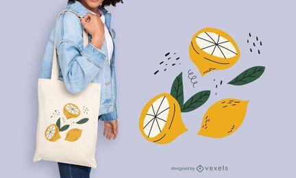 Zitronen-Einkaufstasche Design