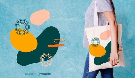 Design de sacola orgânica abstrata
