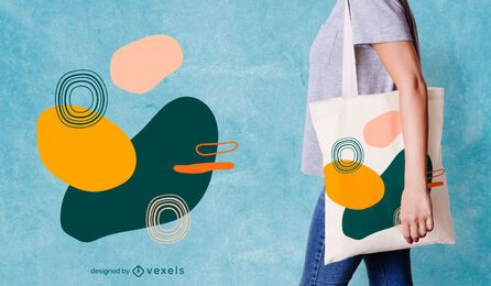 Organic abstract tote bag design