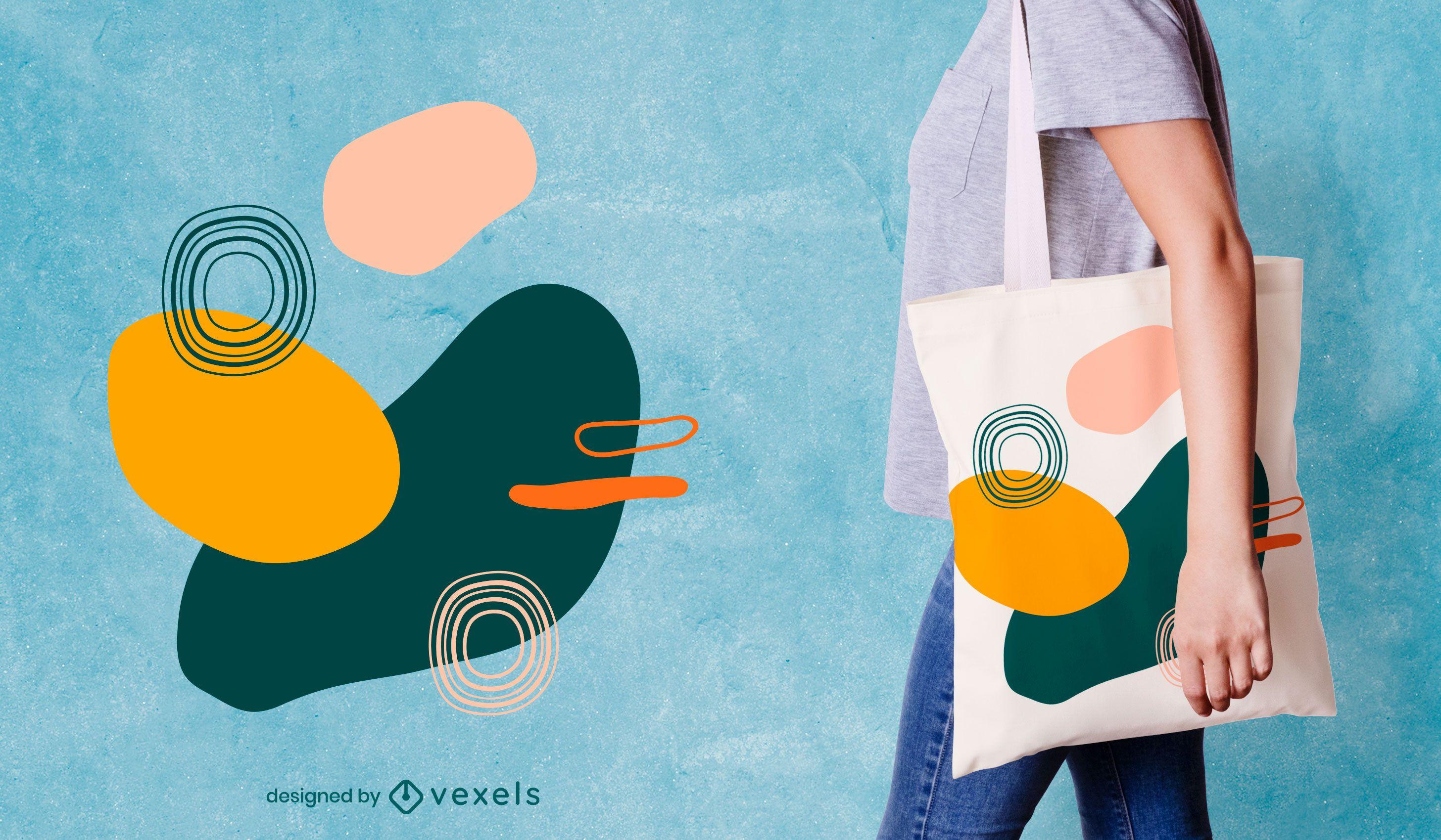 Organic abstract tote bag design
