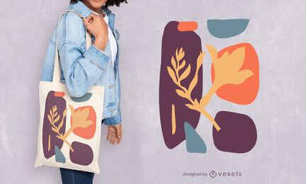 Diseño de bolso de mano orgánico artístico