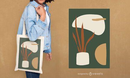 Design de sacola de plantas em vaso