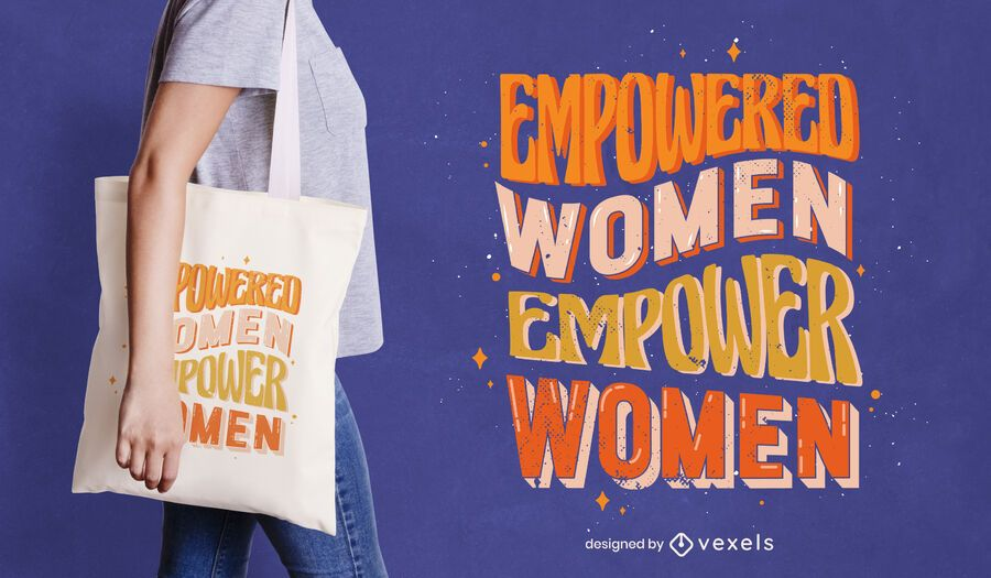 Empowered women tote bag design