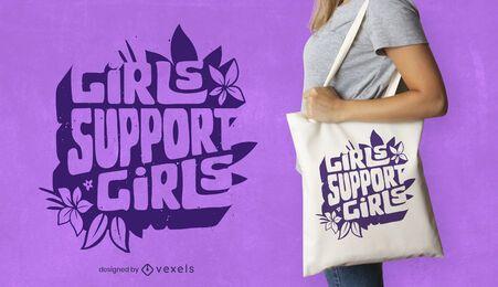 Meninas apoiam o design de bolsas femininas